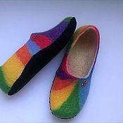 Обувь ручной работы. Ярмарка Мастеров - ручная работа женские тапочки   радуга. Handmade.