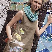 """Одежда ручной работы. Ярмарка Мастеров - ручная работа Платье-бохо """" С рыбами"""". Handmade."""