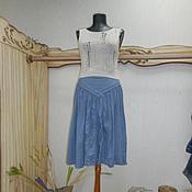 Одежда ручной работы. Ярмарка Мастеров - ручная работа Вязаный топ  блуза Монвизо, 100%  лен, Италия, бохо. Handmade.