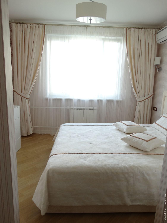 шторы и покрывало для спальни романтика заказать на