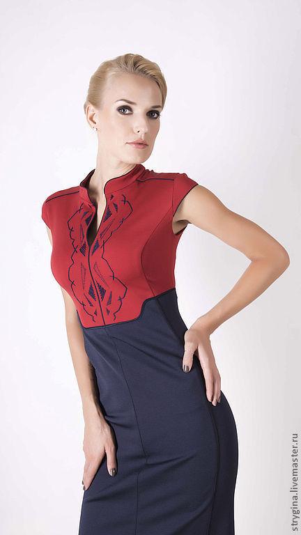Платья ручной работы. Ярмарка Мастеров - ручная работа. Купить Платье VITA. Handmade. Орнамент, шелковое платье, стильное платье