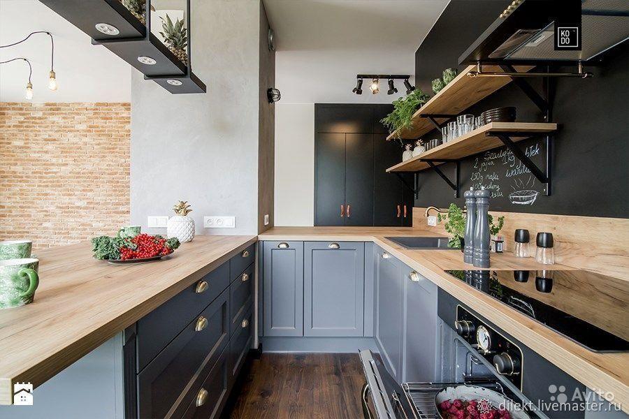 Кухонная столешница из массива дуба, Кухни, Москва,  Фото №1