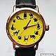"""Часы ручной работы. Ярмарка Мастеров - ручная работа. Купить Часы наручные JK """"12 котиков в желтом"""" 2. Handmade."""