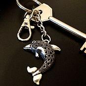 Аксессуары handmade. Livemaster - original item Key chain, Dolphin keychain for handbag. Handmade.