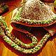 Комплекты аксессуаров ручной работы. Заказать Комплект шапка и митенки в стиле кантри или бохо. Розалинка (SalLia). Ярмарка Мастеров.