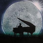 Картины и панно ручной работы. Ярмарка Мастеров - ручная работа Картина Лунная соната. Handmade.