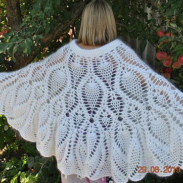 Одежда ручной работы. Ярмарка Мастеров - ручная работа Пончо: Белая птица. Handmade.