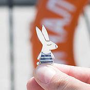 Украшения ручной работы. Ярмарка Мастеров - ручная работа Брошь серебряная кролик Хуан. Handmade.