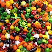 Куклы и игрушки ручной работы. Ярмарка Мастеров - ручная работа Миниатюрные овощи и фрукты из полимерной глины. Handmade.