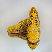 Обувь ручной работы handmade. Livemaster - original item Oxfords from Python REINE. Handmade.