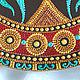 """Декоративная посуда ручной работы. Декоративная тарелка """"Византия"""". --  Фисюк Юлия  -- точечная роспись. Ярмарка Мастеров. Точечная роспись"""