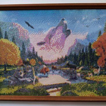 """Картины и панно ручной работы. Ярмарка Мастеров - ручная работа Алмазная живопись """"Волчья долина"""". Handmade."""