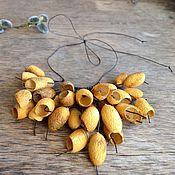 Украшения handmade. Livemaster - original item Necklace necklace Golden brown from cocoons of silkworm. Handmade.