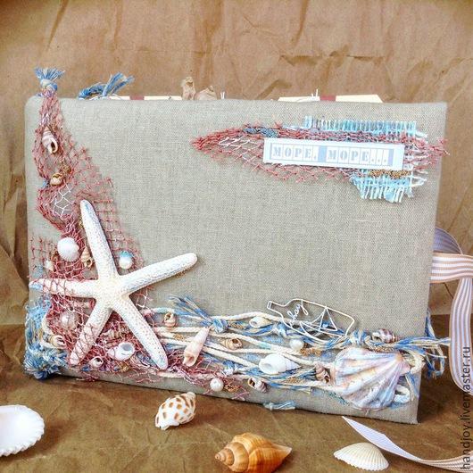 Фотоальбомы ручной работы. Ярмарка Мастеров - ручная работа. Купить морской альбом. Handmade. Разноцветный, путешествие, скрап бумага