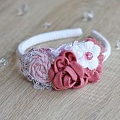 Украшения ручной работы. Ярмарка Мастеров - ручная работа Розовый ободок. Handmade.