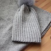 "Комплект шарф и шапка ""Жемчужина"" (подарок маме, сестре, подруге)"