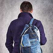 """Рюкзаки ручной работы. Ярмарка Мастеров - ручная работа Рюкзак джинсовый """"Карманы"""". Handmade."""