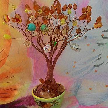 Цветы и флористика ручной работы. Ярмарка Мастеров - ручная работа Поздняя осень. Дерево из бусин. Handmade.