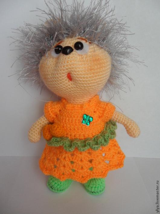 Игрушки животные, ручной работы. Ярмарка Мастеров - ручная работа. Купить Ежиха апельсинка. Handmade. Ежиха, связано крючком