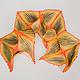 """Шарфы и шарфики ручной работы. Ярмарка Мастеров - ручная работа. Купить Шарф """"Орхидея фаюс"""". Батик, натуральный шелк. Handmade."""