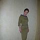 """Платья ручной работы. Платье """" Яблоневый цвет"""". Кофейное зёрнышко. Ярмарка Мастеров. Зеленое платье, платье с рукавами"""