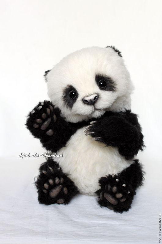 Мишки Тедди ручной работы. Ярмарка Мастеров - ручная работа. Купить Панда По. Handmade. Чёрно-белый, коллекционные медведи