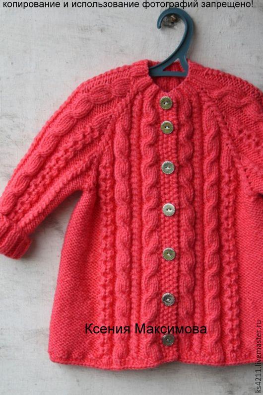 """Одежда для девочек, ручной работы. Ярмарка Мастеров - ручная работа. Купить вязаное пальто для девочки """"я- принцесса"""" авт. работа. Handmade."""