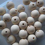 Материалы для творчества ручной работы. Ярмарка Мастеров - ручная работа Бусины деревянные 12 мм неокрашенные круглые. Handmade.