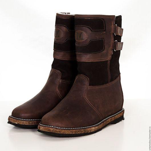 Обувь ручной работы. Ярмарка Мастеров - ручная работа. Купить Монголки мужские. (Короткие) мм4. Handmade. Черный, натуральная кожа