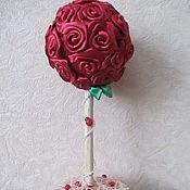 Цветы и флористика ручной работы. Ярмарка Мастеров - ручная работа Топиарий из роз. Handmade.