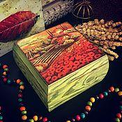 Для дома и интерьера ручной работы. Ярмарка Мастеров - ручная работа Тоскана, шкатулка, декупаж. Handmade.