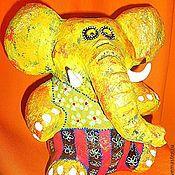 """Для дома и интерьера ручной работы. Ярмарка Мастеров - ручная работа Ваза""""Солнечный слон"""".. Handmade."""