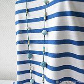 Украшения handmade. Livemaster - original item The beads on the cord from the lava and quartz breeze. Handmade.