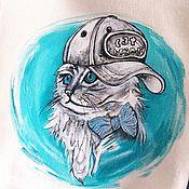 handmade. Livemaster - original item shopper: The cat in the baseball cap. Handmade.