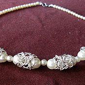 """Украшения handmade. Livemaster - original item Beads """"pearl lace"""". Handmade."""