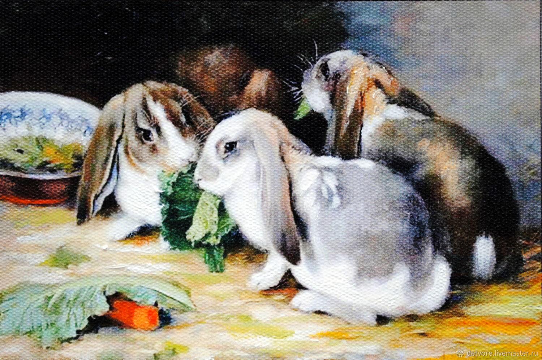 "Картина маслом""Морковка лучший друг"", Картины, Таганрог,  Фото №1"