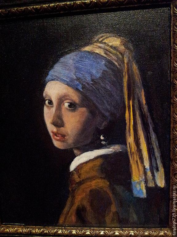 девушка с жемчужной сережкой картина фото