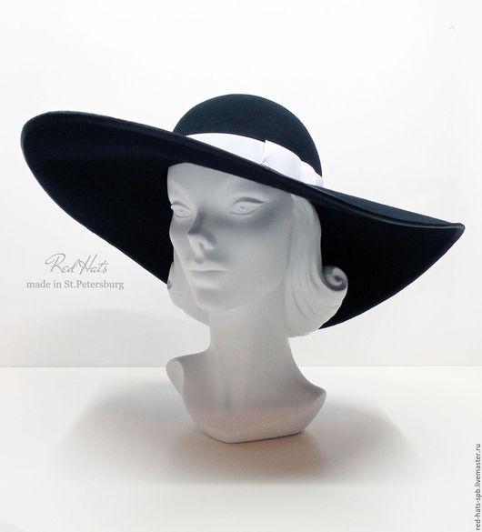 Шляпы ручной работы. Ярмарка Мастеров - ручная работа. Купить Очень широкополая фетровая шляпа, шляпа с большими полями. Handmade.