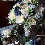 Свадебный салон ручной работы. Ярмарка Мастеров - ручная работа Букет невесты с мускари. Handmade.