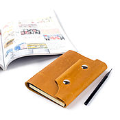 Канцелярские товары handmade. Livemaster - original item Leather notebook with rings compact A6 Notepad made of genuine leather. Handmade.