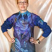"""Одежда ручной работы. Ярмарка Мастеров - ручная работа свитер """"Синий лес"""". Handmade."""