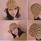 Аксессуары ручной работы. Ярмарка Мастеров - ручная работа шляпа вязанная крючком, ажурная шляпа. Handmade.