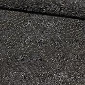 Материалы для творчества ручной работы. Ярмарка Мастеров - ручная работа кожа черное кружево. Handmade.