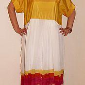Одежда ручной работы. Ярмарка Мастеров - ручная работа Платье шелковое летнее миди. Handmade.