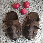 Обувь ручной работы handmade. Livemaster - original item Slippers felted men`s Master of the forest. Handmade.