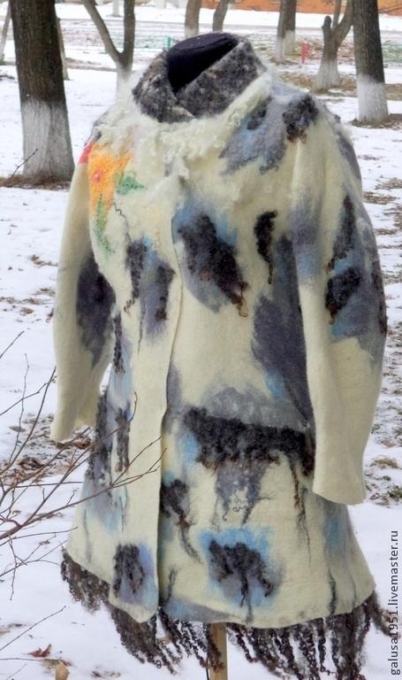"""Верхняя одежда ручной работы. Ярмарка Мастеров - ручная работа. Купить Валяное пальто    """"Серебряный век-2"""". Handmade."""