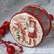 """Для дома и интерьера ручной работы. Ярмарка Мастеров - ручная работа Шкатулочка """"Merry Christmas"""". Handmade."""
