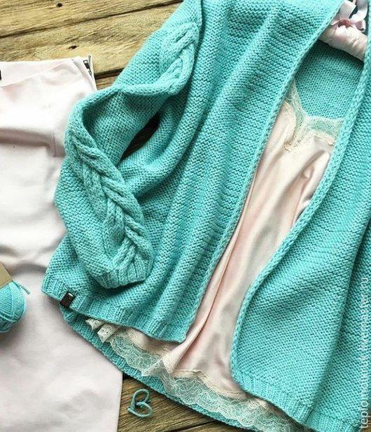 """Кофты и свитера ручной работы. Ярмарка Мастеров - ручная работа. Купить Кардиган """" Light mint """". Handmade. Кардиган"""