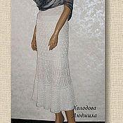 "Одежда ручной работы. Ярмарка Мастеров - ручная работа ""Кружева"" (ажурная летняя вязаная крючком юбка). Handmade."