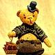 """Мишки Тедди ручной работы. Mr. Бредли (коллекция """"Твид- старая Англия""""). Пур-Пур (pur-pur). Интернет-магазин Ярмарка Мастеров."""